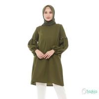 Atasan Muslim Wanita | Noya Tunik Hijau | S M L XL | Original