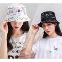 Topi Bucket baddas topi korea kpop premium dewasa