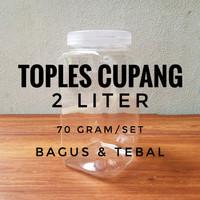 Toples Cupang 2 Liter - Toples Cokelat Jar Coklat Kue Plastik 2000 ml