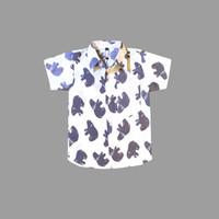Kemeja Anak Laki-laki Cowok 2-5Tahun Beruang Putih / Baju Kemeja Katun - L
