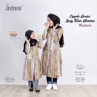 BAJU TUNIK Couple Ibu dan Anak Panjang Motif Muslim Shaima Jhn