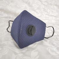 Masker KN95 Premium 6ply dgn Filter Respirator bisa dicuci Navy Blue