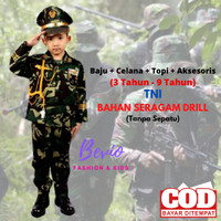 Kostum Anak Profesi ABRI TNI Tentara Loreng Kijang Baju Seragam