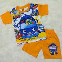 Baju setelan Anak Laki 2-4 thn Motif TAYO