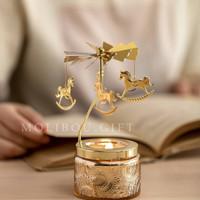 Rotating candle gift box hadiah kado anniversary ibu natal wisuda