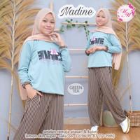 Nadine by M2M - Setelan Baju Anak Remaja Perempuan / Set Kaos Celana