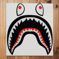 Stiker Bape Shark Single