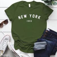 Kaos Wanita New York / Tshirt Katun Combed 30s / Tumblr Tee