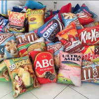 Bantal Snack Lucu Kualitas Premium Ukuran 30x40 CM Harga Murah