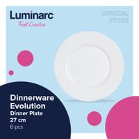 Luminarc Piring Evolution - Dinner Plate 27cm - Box Of 6