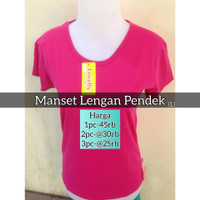 Manset Lengan Pendek | Baju Manset Lengan Pendek - merah ati