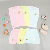 Setelan Single Bayi HUNDAY 6-9 Bulan ( Harga 3 set baju )