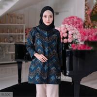 Baju Batik Wanita Dress Batik Atasan Batik Wanita Blouse Kantor GW02 - S