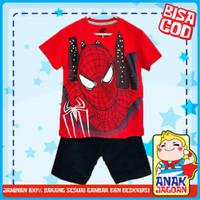 Baju anak laki2 / Setelan anak laki-laki motif Spiderman Face 1-10 thn - 1-2 tahun