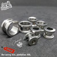 Piercing earring plug stainless steel 2mm-20mm.