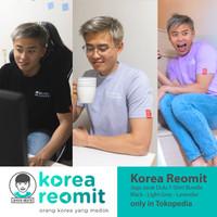 Korea Reomit Jaga Jarak Dulu T-Shirt Bundle - Black Grey Lavender