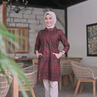 Baju Batik Wanita Dress Batik Atasan Batik Wanita Blouse Kantor GW07