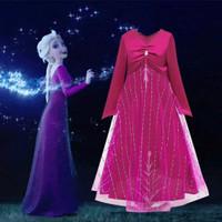 baju pesta dress Elsa princess Frozen