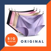 Celana Dalam Seamless Tanpa Jahitan Anti Nyeplak Fashion Es Sutra CD W