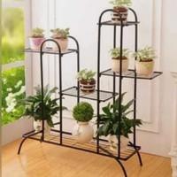 rak pot bunga / standing pot bunga lebar