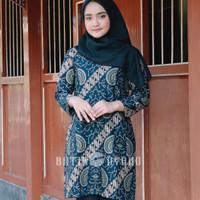Baju Batik Wanita Dress Batik Atasan Batik Wanita Blouse Kantor GW010 - 5L
