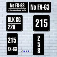 Nomer rumah / nomor rumah Arylic / Arkilik ukuran custom sesuai permi