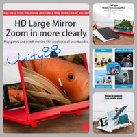 F3 KACA PEMBESAR LAYAR HP 3D/ ENLARGE SCREEN HD VIDEO MAGNIFIER Smart