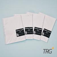 Isi Loose Leaf Refill Binder B5 HVS Paper Dotted Grid Plain Ruled TRG