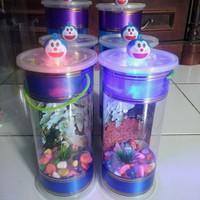 Aquarium Tabung Cantik Led Karakter untuk ikan hias/cupang/guppy