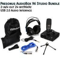 Presonus AudioBox 96 Studio Bundle Soundcard Recording Audio Interface