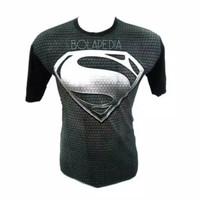Kaos SUPERMAN BLACK / kaos superhero baju distro fashion pria