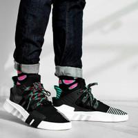 Sepatu Adidas EQT Bask Adv Black Green Hitam Hijau White Premium