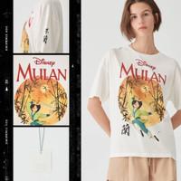 pull and bear x Mulan t-shirt kaos Mulan pull and bear original