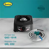 Paket Kompor Gas 1 Tungku QGC-101 R dan Selang Regulator QRL 032