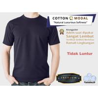 CUMULUS T-shirt Kaos Polos O-Neck 100% Cotton Modal - Biru Navy