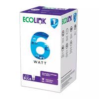 LED Ecolink Bulb 6 W Watt Bohlam Lampu 6w 6Watt E27 Putih / Kuning