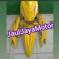 Cover Full Body Halus Yamaha Mio Sporty Warna Kuning + Striping