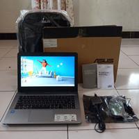 Asus X441N Silver Fullset SSD 128GB RAM 4GB Laptop Second Bekas Murah