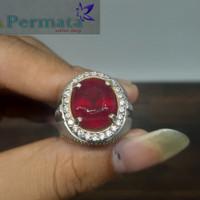 Cincin Batu Permata Ruby Mozambique Natural High Quality
