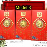 Angpao Emas Shio Kerbau 2021 Model B / Angpao berlapis emas au999