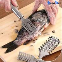 Pembersih Sisik Ikan Serutan Pisau Sisik Ikan Stainless Steel