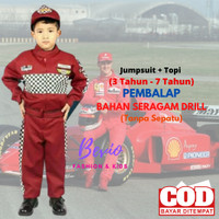 Kostum Profesi Anak Pembalap Baju Seragam Karnaval PAUD Laki Cowok