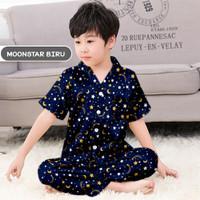 Piyama Monalisa Moonstar Biru anak cowok