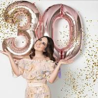 Balon Angka 80 cm Rose Gold Balon Foil Angka Jumbo 80cm
