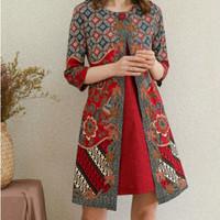 BM - Lavinia Batik Dress Baju Wanita Imlek Natal Edition JNR