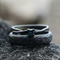 cincin kawin palladium perak p4454