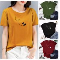 Baju Kaos Wanita Cewek Lengan Pendek Tumbl Katun Size M-L-XL-XXL Murah