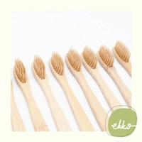 Bamboo Tooth Brush (BEIGE) / Sikat Gigi Bambu