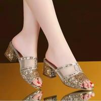 Sandal Wanita Remaja Kekinian Model Terbaru Blink Heels RS01