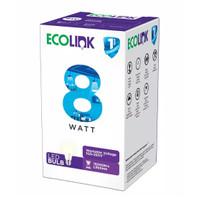 LED Ecolink Bulb 8 W Watt Bohlam Lampu 8w 8Watt E27 Putih / Kuning